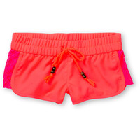 Empyre Girls Lyria Crochet Inset Neon Pink Board Shorts at Zumiez : PDP