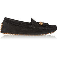 Gucci - Tasseled suede loafers