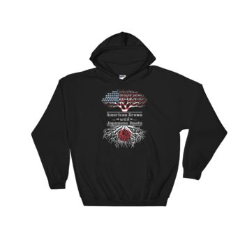 American Grown With Japanese Roots - Hooded Sweatshirt