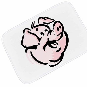 Autumn Fall welcome door mat doormat Honlaker Cartoon Pig Watercolor Home Decor  Entrance  Water-absorbing Anti-slip Bathroom Rug Bath Mats AT_76_7