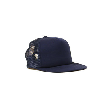 Deadstock Trucker Cap, Navy Blue