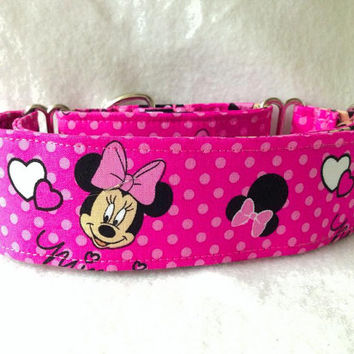 "It's All About Minnie Martingale or Quick Release Collar 2"" Martingale Collar"