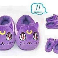 Sailor Moon Purple Cat Plush Slipper