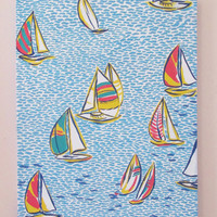 16x20 in HAND PAINTED Lilly Pulitzer Inspired You Gotta Regretta Canvas Painting Sailboats Preppy Bay Sorority Southern Decor