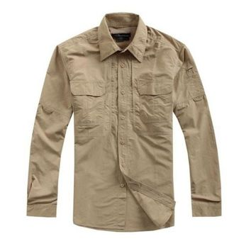Tactical shirt OD casual shirt fast quick drying casual breathable clothing US military clothing