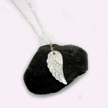 Angel Wing Necklace, Wing Necklace, Angel Wing Jewelry, Yoga Jewelry, Wing Necklace, Wing, Charm, Yoga, Gift for her, Layering Necklace,