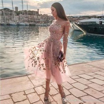 Sexy Pink Illusion Sheer Sheer Sequined Party Gowns A Line Jewel Strapless Knee Length Homecoming Cocktail Dress Cheap Summer Dress 2540