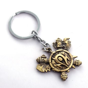 MS World Warcraft Key Chain Orcish Horde Tribe Key Rings For Gift Chaveiro Car Keychain Jewelry WOW Key Holder Souvenir