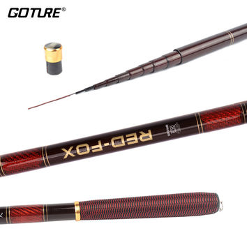 Goture 3.0-7.2M Stream Fishing Rod Carbon Fiber Telescopic Fishing Rod Ultra Light Carp Fishing Pole