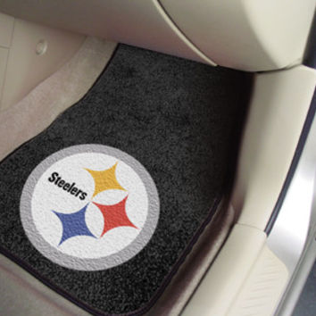 "NFL - Pittsburgh Steelers 2-piece Carpeted Car Mats 18""x27"""