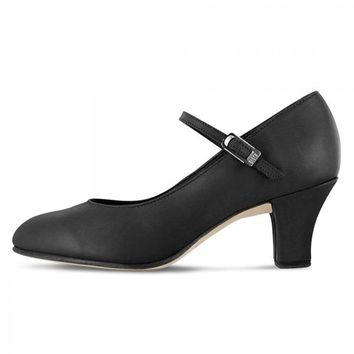 Bloch Women's Leather Cabaret Character Shoes - Black-Clearance