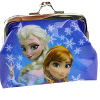 "Blue Snowflake Frozen  "" Elsa and Anna"" Coin Purse For Girls"