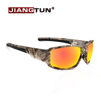 New Fashion Popular Camouflage Polarized Sunglasses Men Women Designer Blue Red Color Coating Mirror Sun Glasses