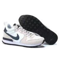 NIKE Fashion women men Casual Shoes Sneakers Beige Black hook