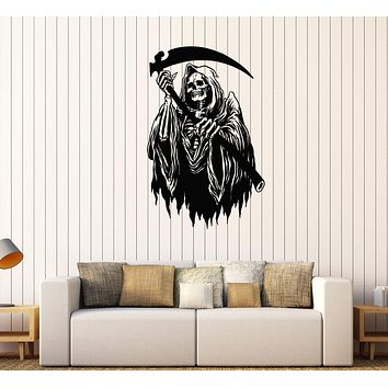 Vinyl Wall Decal Grim Reaper Horror Art Stickers Mural Unique Gift (442ig)
