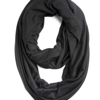 Women Men Eternity Scarf Infinity Scarf Black Tube Scarf Cowl Women Spring Summer Fall Winter Unisex Clothing Fashion Accessories Gift Ideas