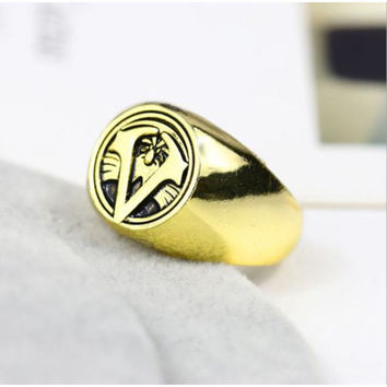 New Assassins Creed Master Ring Cosplay Accessories Bronze Men Anillos christmas