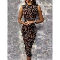 Lydia Flower Print Detailed Party Dress