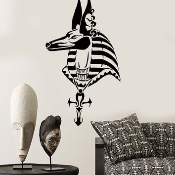 Wall Sticker Anubis Egypt Egyptian God Mythology  Decor For Bedroom Unique Gift (z2518)