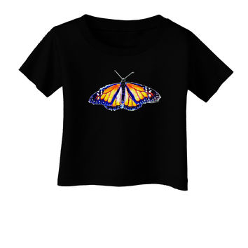 TooLoud Watercolor Monarch Butterfly Infant T-Shirt Dark