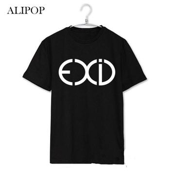 Youpop KPOP EXID Exceed In Dreaming Dasoni Album Shirts K-POP Cotton Tshirt T Shirt Short Sleeve Tops T-shirt DX270