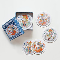 Rifle Paper Co. - Royal Cocktail Coaster Set