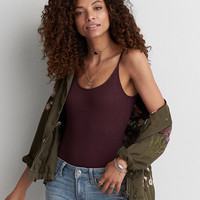 AEO Soft & Sexy Ribbed Bodysuit , Plum