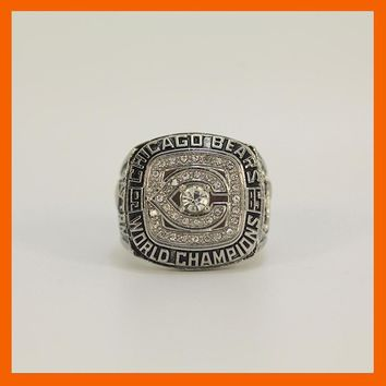 NEW SILVER COLOR 1985 CHICAGO BEARS SUPER BOWL XX WORLD CHAMPIONSHIP RING US SIZE 11
