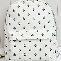 Canvas Backpack with Anchor Embellishment TKV312 from topsales