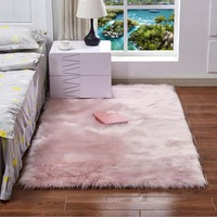 Hot sale Faux Sheepskin Chair Cover 15 Colors Warm Hairy Wool Carpet Seat Pad long Skin Fur Plain Fluffy Area Rugs Washable
