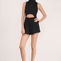Bettie Cut Out High Neck Romper