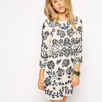 Needle & Thread Empress Long Sleeve Mini Dress