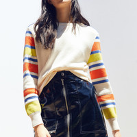 Silence + Noise Striped Sleeve Sweater | Urban Outfitters