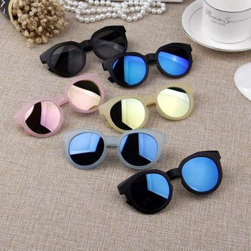 Candy Color Kids Glasses Boys Matte Children Sunglasses Girls Reflective Mirror Eyeglasses Cool Eye wear Baby Glasses