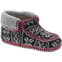 Women's Snowflake Fairisle Slipper Bootie with Berber Trim - Walmart.com