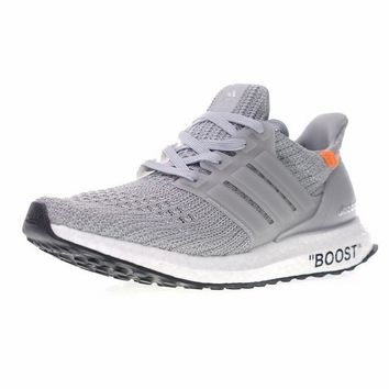 "Virgil Abloh OFF WHITE x Adidas Ultra Boost UB 4.0 Boost Running Shoes Sneaker ""OW Grey""BB6167"