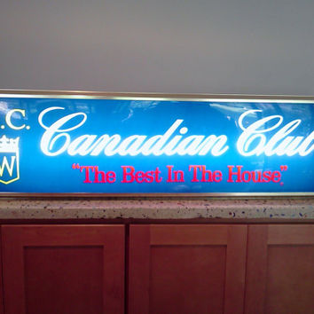 Vintage Advertising Bar Sign Double Sided Lighted Canadian Club  Xtra Large
