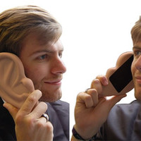 NEW 3D Funny Unique Ear Silicone Rubber Soft Skin Case Cover for iPhone 4