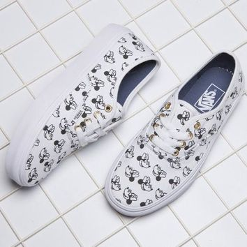 VANS X Disney Mickey Mouse Canvas Old Skool Flats Sneakers Sport Shoes-1