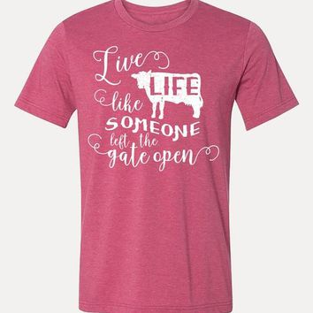Live Life Farmhouse Graphic T-Shirt