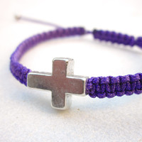 Sideways Cross Macrame Friendship Bracelet MADE TO ORDER In Your Desired Color | Luulla