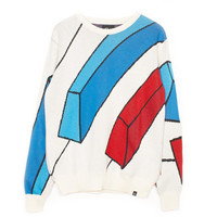Parra: Rejected Piano Knitted Crewneck Pullover - Off White