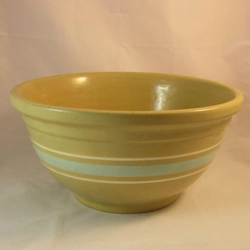 30s Banded Mixing Bowl Watt Gold n Bake Crockery Pottery