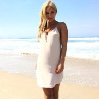 Close To Heart Shift Dress In Nude
