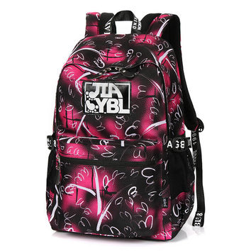 New Korean Oxford Printing Backpack Women School Bags for Teenage Girls Cute Bookbags Vintage Laptop Backpacks Female Travel Bag