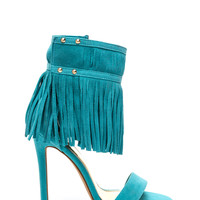 Fringe Favor Single Strap Heels