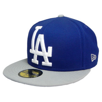 "Dodgers ""Logo Grand"" Fitted Hat - Blue"