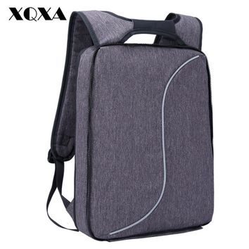 Light Slim Backpack Men Lightweight Laptop Notebook Backpacks Women Waterproof Thin Business  Anti Theft Backpack