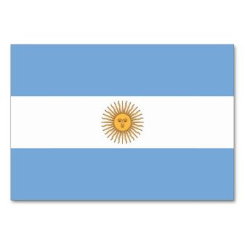 Patriotic table card with Flag of Argentina