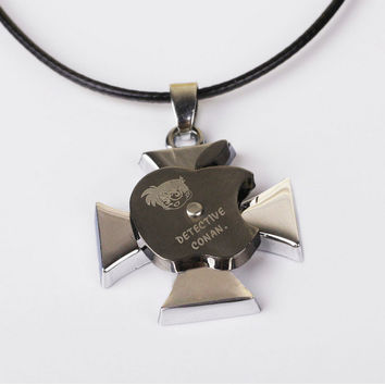 New Arrival Shiny Jewelry Stylish Gift Iphone Cartoons Apple Cross Rack Titanium Stainless Steel Necklace [6542796419]